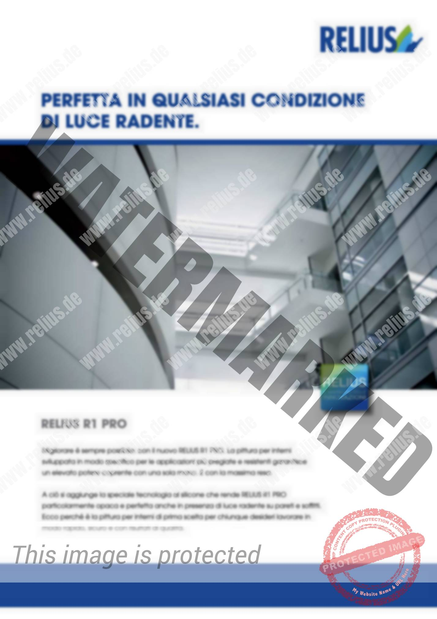 Volantini E Brochure Relius Farbenwerke